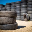 Stack of new tires — Stock Photo