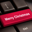 Computer keyboard with Christmas key — Stock Photo #35905255