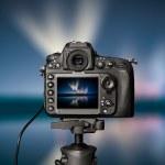 Digital camera the night view — Stock Photo