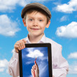 Child using a tablet PC — Stock Photo #35906345