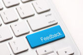 Computer key showing the word Feedback. — Stock Photo
