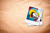 Photo frames on old paper background. — Stock Photo
