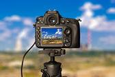 Digital camera on day — Stock Photo
