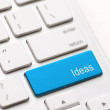 Idea word on keyboard — Stock Photo