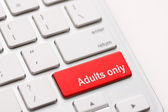 Adults only message on enter key — Stock Photo