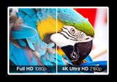 4K television display — Stock Photo