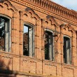The old destroyed building from a red brick — Stock Photo