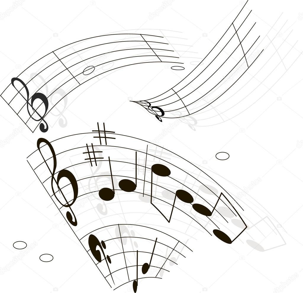 Illustration  - notes, music  Stock Vector #13751982