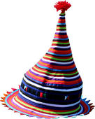 Hat of colored fabrics — Stockfoto