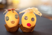 Funny eggs for Easter — Stock Photo