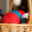 Colored balls of wool — Stock Photo