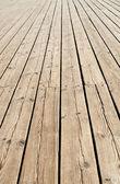 Wooden sidewalk — Stock Photo
