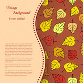Vintage background with autumn leafs — Stock Vector