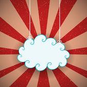Retro Cloud — Stock Vector