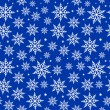 Seamless Snowflakes Background Pattern — Stock Vector