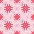Pink Flowers Seamless Pattern — Stock Vector