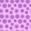 Violet Flowers Seamless Pattern — Stock Vector