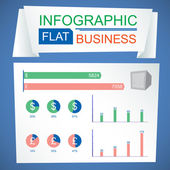 Business Infographic — Stock Vector
