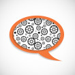 Vector de stock : Mechanical Wheels Speech Bubble