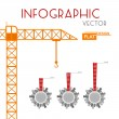 Building Construction Infographic — Stock Vector