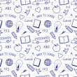 Back to School Doodles Pattern — Vecteur #29309133