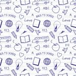 okula geri desen doodles — Stok Vektör