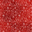 Stock Vector: Red Christmas Seamless Pattern