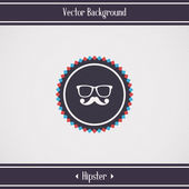 Hipster glasses and mustache — Stock Vector
