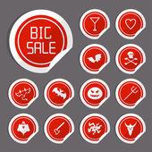 Halloween Sale Stickers — Stock Vector