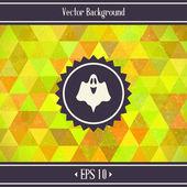 Halloween Triangles Background — Stock Vector
