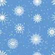 Stock Vector: Snowflakes Seamless Pattern