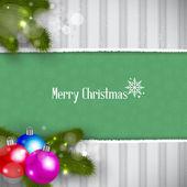Christmas Retro Background — Stock Vector