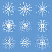 Snowflakes Ornament Set — Stock Vector