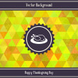 Thanksgiving Day Triangles Background — Stock Vector #32011831
