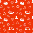 Thanksgiving Day Seamless Pattern — Vettoriali Stock