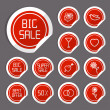 Flat Sale Stickers — Image vectorielle