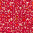 Valentine's Day Seamless Pattern — Vettoriale Stock