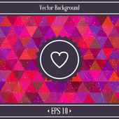 Heart Triangles Geometric Background — Stock Vector