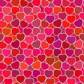 Patrón sin costuras de corazones — Vector de stock