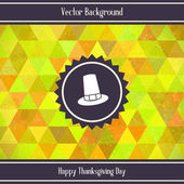 Thanksgiving Day Triangles Background — Stock Vector