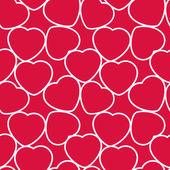 бесшовный узор из сердца — Cтоковый вектор
