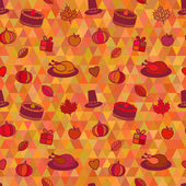Thanksgiving Day Seamless Pattern — Stock Vector