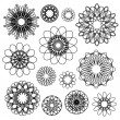 Round Ornament Set — Stock Vector