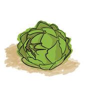 Green Artichoke — Stock Vector