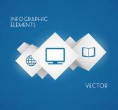 Küp infographics — Stok Vektör