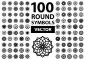 Round Ornament Set — Stockvektor