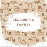 Sketchnote Banner — Stock Vector #43229669