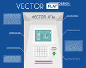 Atm flat infographic — Stock Vector