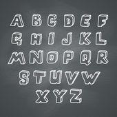 алфавит на доске — Cтоковый вектор