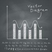 Diagram on Chalkboard — Stock Vector